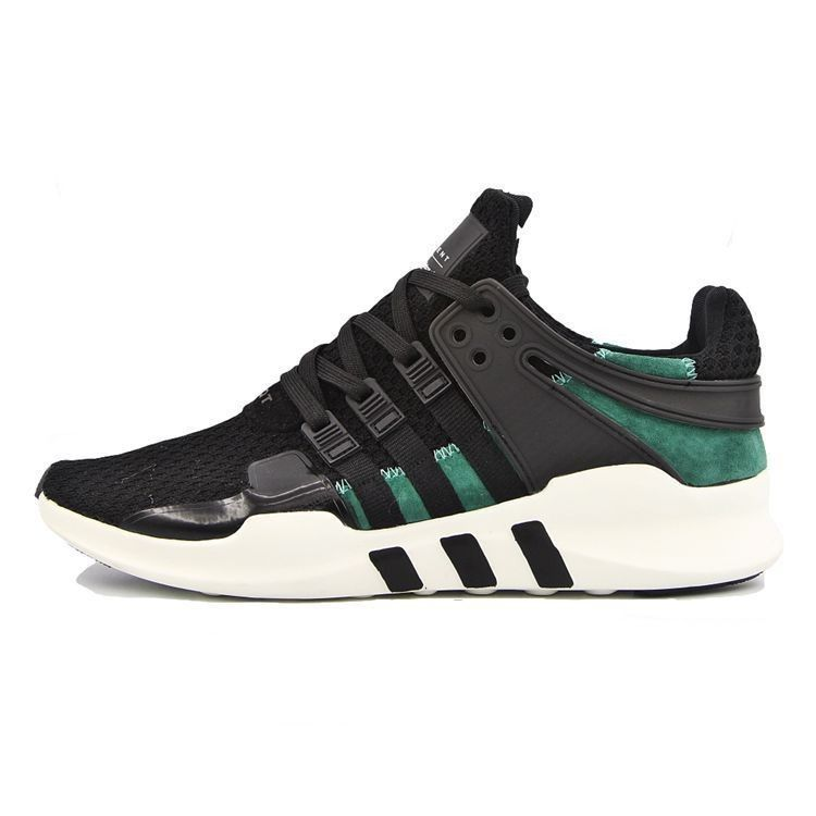 sports shoes 9539c 45f7b adidas EQT running support 93 Primeknit black green S81495 Mens Womans running  shoes