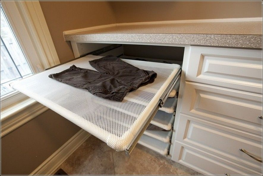 Pull Out Flat Drying Rack Laundry Room Organization