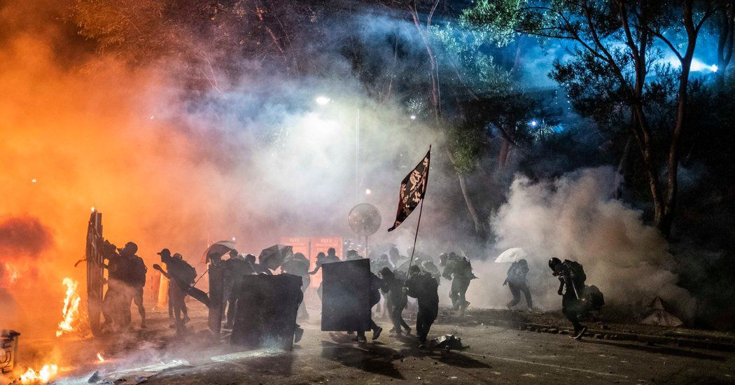 Hong Kong Protest Photos Tear Gas And Fires On A Day Of Campus Clashes Published 2019 Hong Kong Photo Awards Photo