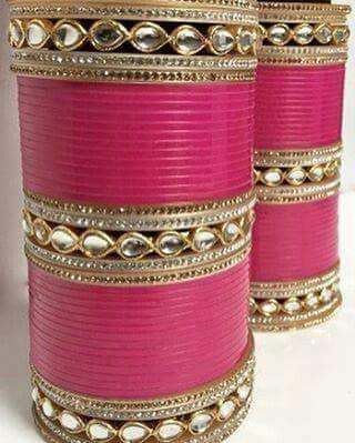 pink choora wedding bangles indian wedding