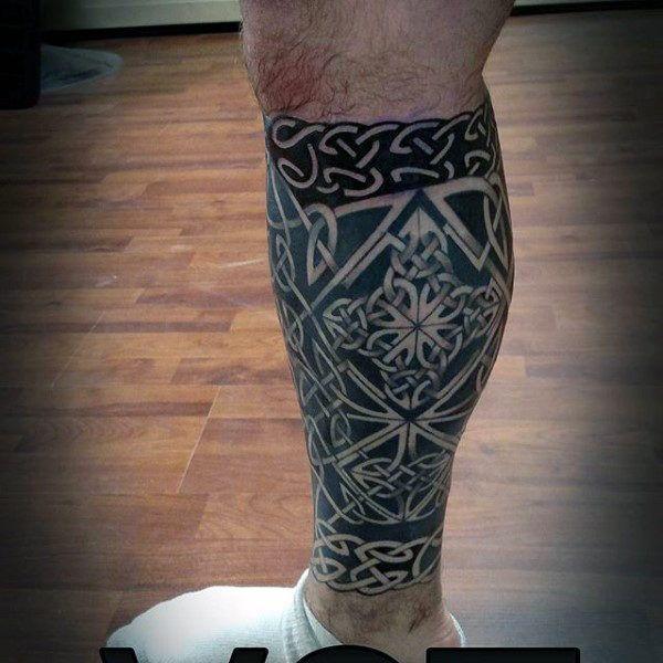 100 celtic knot tattoos for men interwoven design ideas pinterest black ink tattoos leg. Black Bedroom Furniture Sets. Home Design Ideas