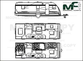 Efterstræbte Adria Classica 663 KP '2008 - drawing | Adria blueprints FC-65