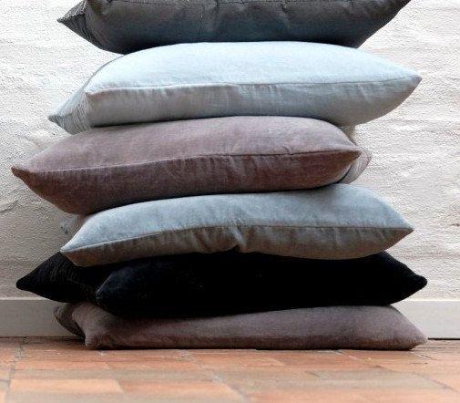Zip Floor Pillow hand-made crushed velvet /floor cushions - lovely colours - cover