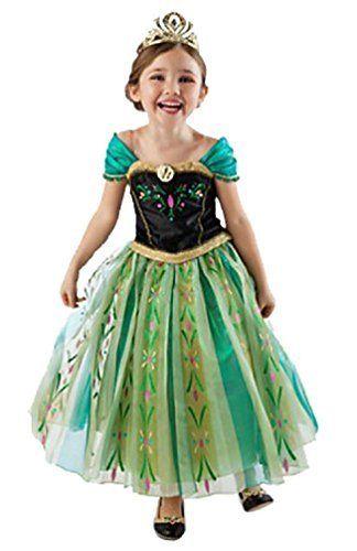 Frozen Anna Elsa Cinderella Deluxe Girlu0027s Costume Enchanting Dress by V28® //.amazon.com/dp/B00N8YHY6S/refu003dcm_sw_r_pi_dp_mnk5wb0Z5J9QA  sc 1 st  Pinterest & Frozen Anna Elsa Cinderella Deluxe Girlu0027s Costume Enchanting Dress ...