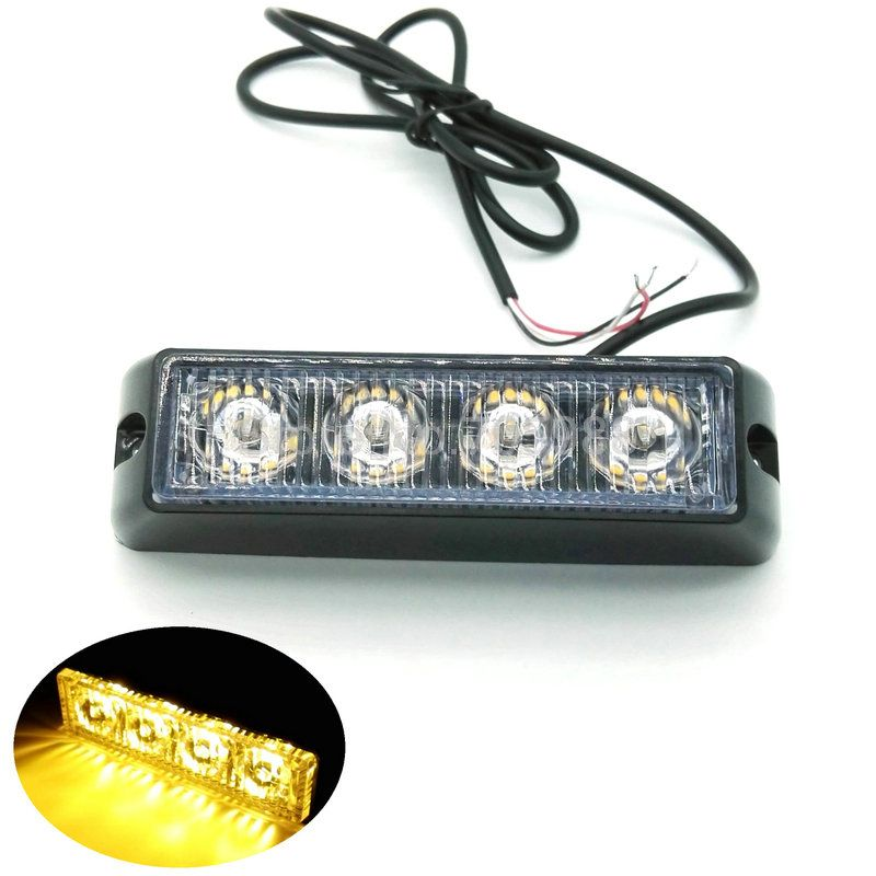 Strobe Lights For Cars Extraordinary 2Pcs * 4 Led Car Truck Flash Fog Light Emergency Warning Light Bulb Inspiration