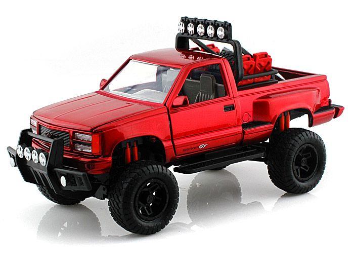 1992 gmc sierra gt pickup off road 1 24 red diecast model cars pinterest model car. Black Bedroom Furniture Sets. Home Design Ideas