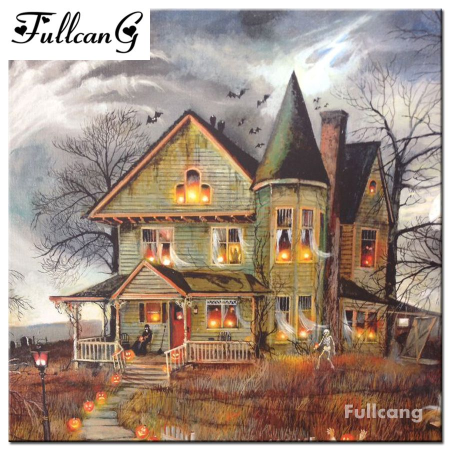 Image result for Haunted House paintings Halloween
