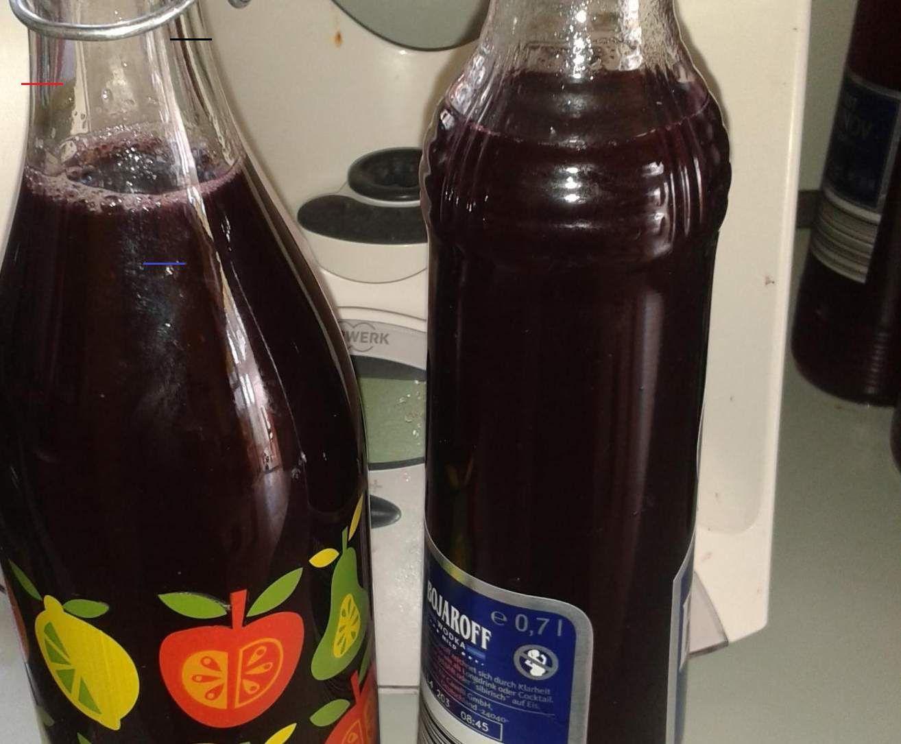Äpfelverwerten Zubereitung Weintrauben, Wasser und