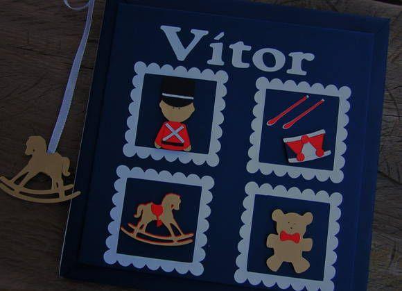 Livro do Bebê personalizado em scrap Soldadinho de Chumbo   cricut Tin soldier Baby Diary www.amornopapel.elo7.com.br www.amornopapel.com