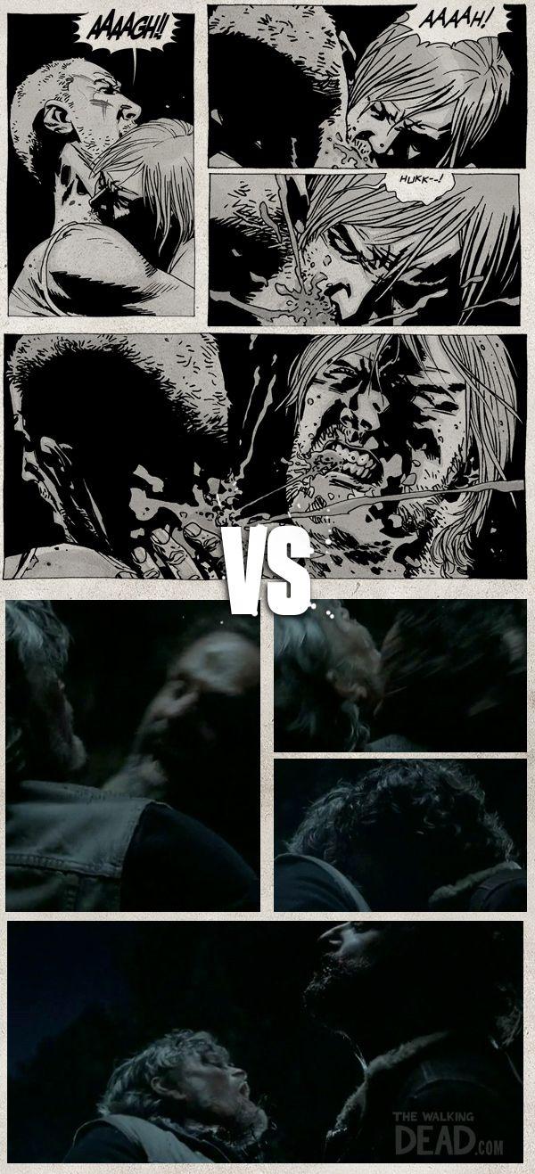 Rick Grimes Comics Vs AMC Nailed it!