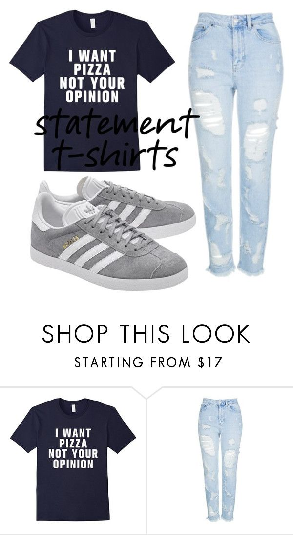 """Untitled #200"" by dongoodleo ❤ liked on Polyvore featuring Topshop and adidas Originals"