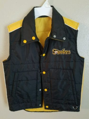 4eb36a41c Boys-Kids-Youth-Pittsburgh-Steelers-Vintage-70s-Puffer-Vest-Sz-14-16-L-NFL -Sears