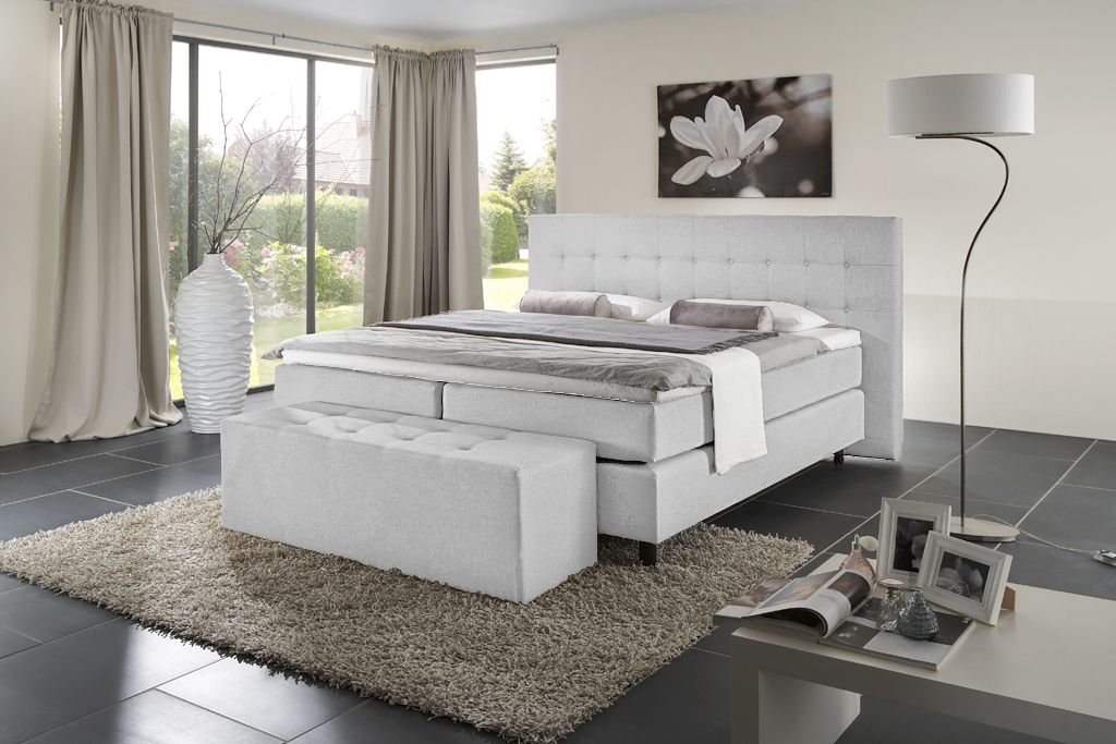 Boxspringbetten boxspringbett deko pinterest for Boxspringbetten hamburg