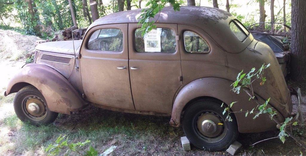1937 Ford Fordor Sedan 85 HP Flathead V8 Restoration Project car ...