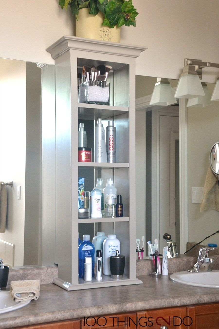 Bathroom Storage Tower Vanity Cabinet On