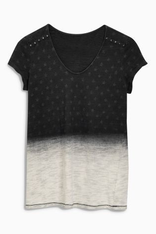 Buy Black Wash Star T-Shirt online today at Next: Israel | Next ...