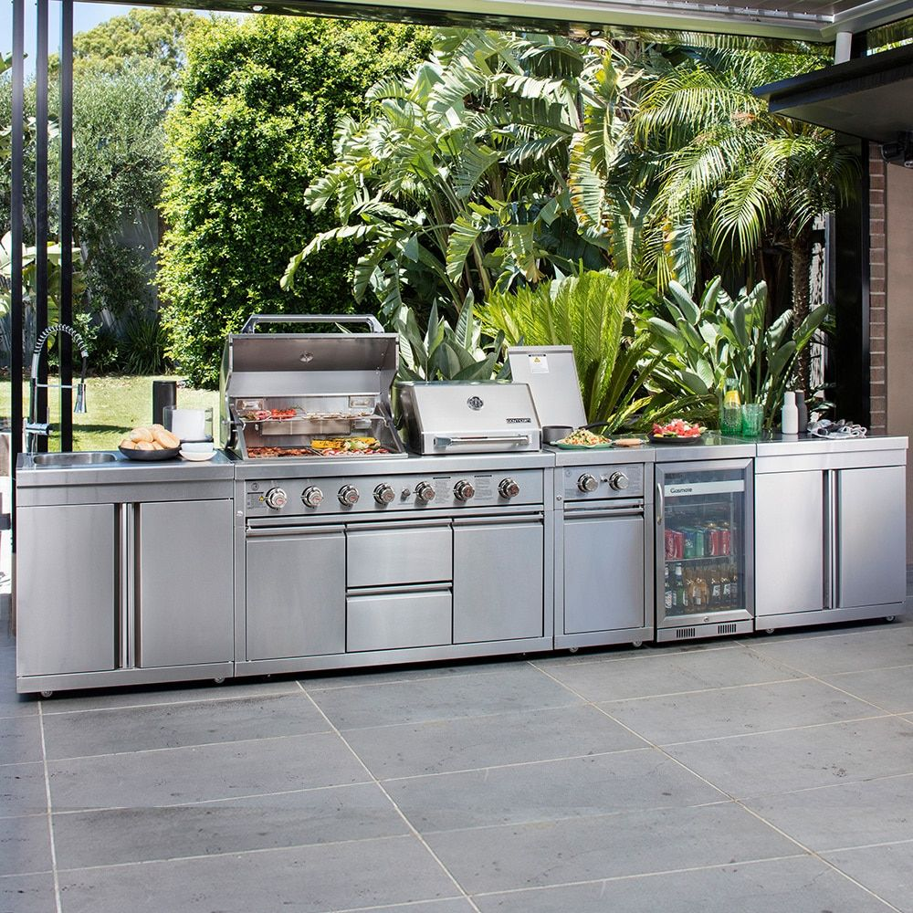 Stainless Steel Outdoor Kitchen Google Search Bbq Kitchen Fridge Models Outdoor Kitchen