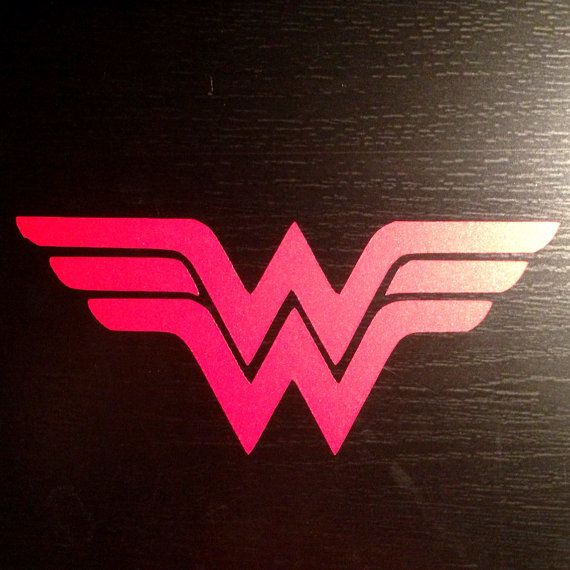 wonder woman logo car decal