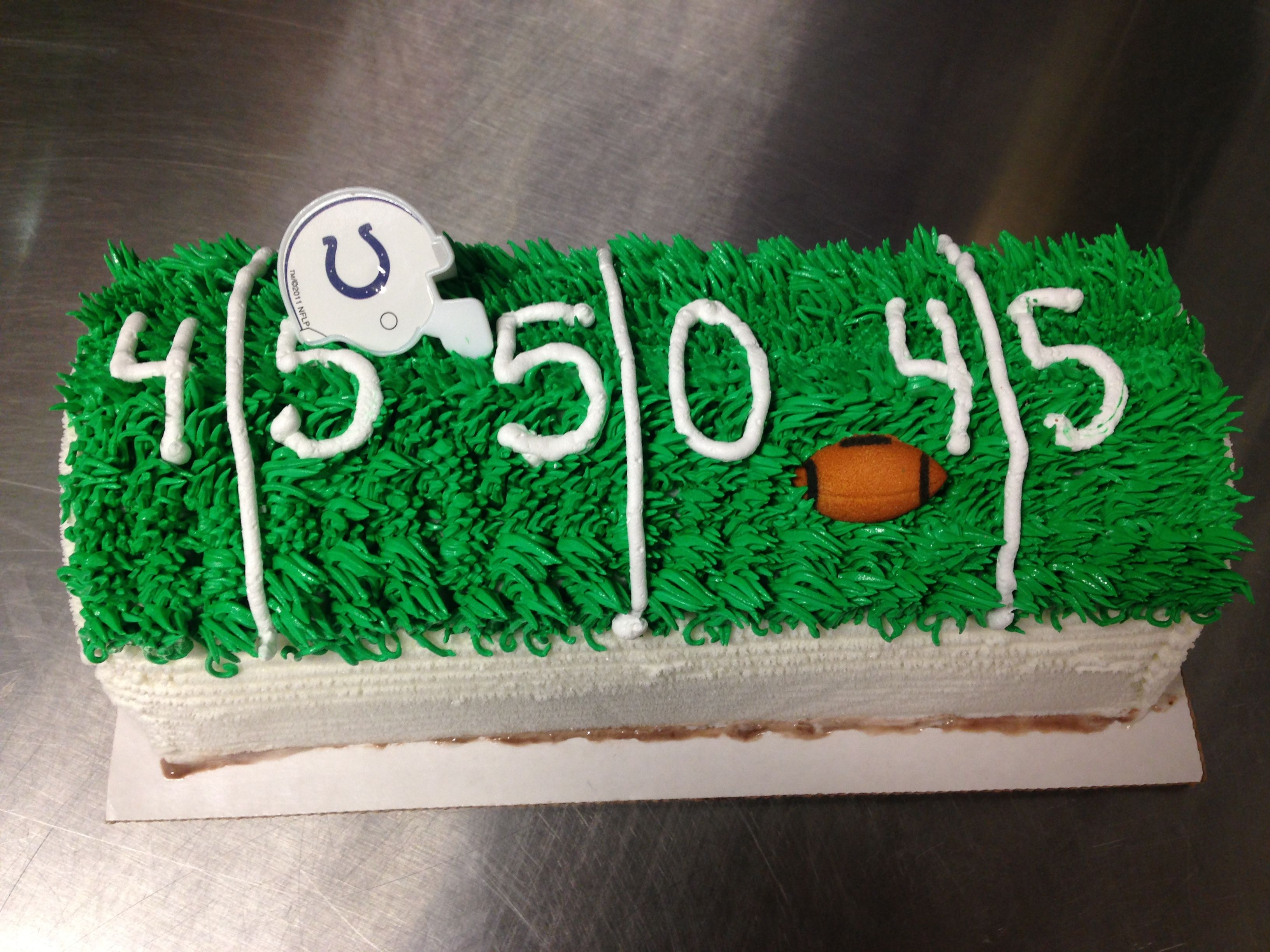 Dairy Queen Log Cake Designs : Colts football DQ ice cream log cake My Cakes ...