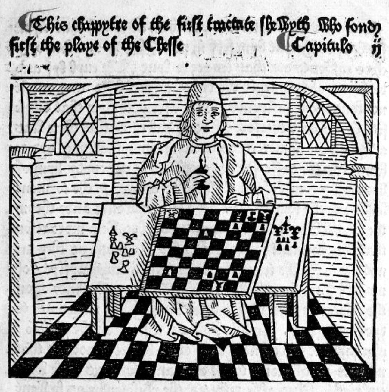 A Collection Of Free Coloring Books From Libraries And Museums Woodcut Book Print Chess Books
