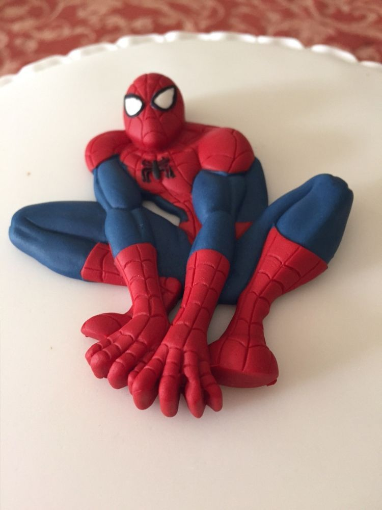 Spiderman Cake Topper Icing 2D Spider Man in Crafts, Cake ...