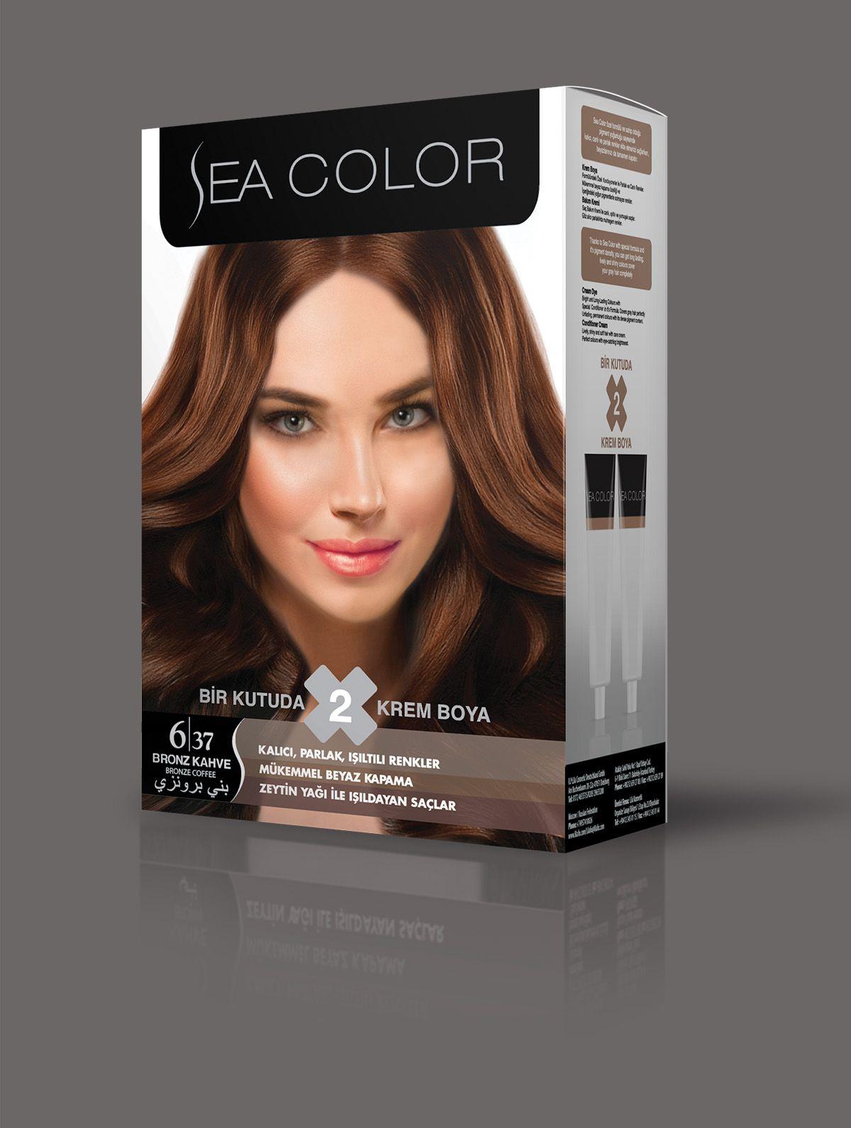 Sea Color Sac Boyasi 6 37 Bronz Kahve Renkler Sac Sac Boyasi