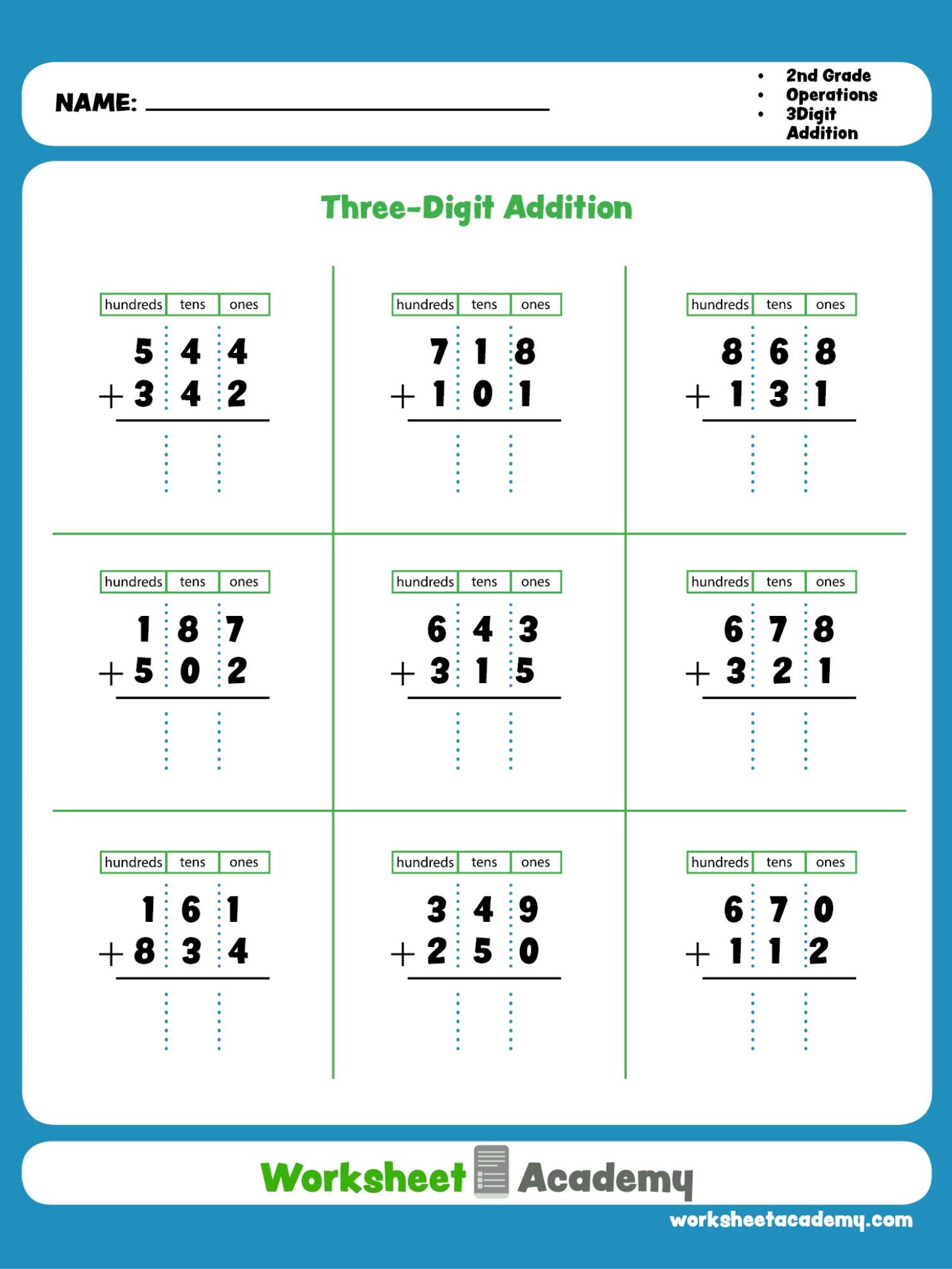 Three Digit Addition