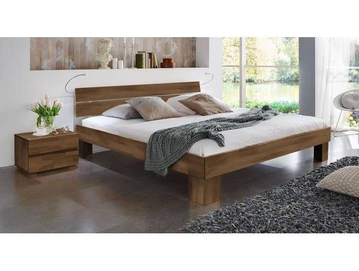 Seniorenbett – 140×200 cm – Buche kirschbaumfarben – Fußhöhe 25 cm – L