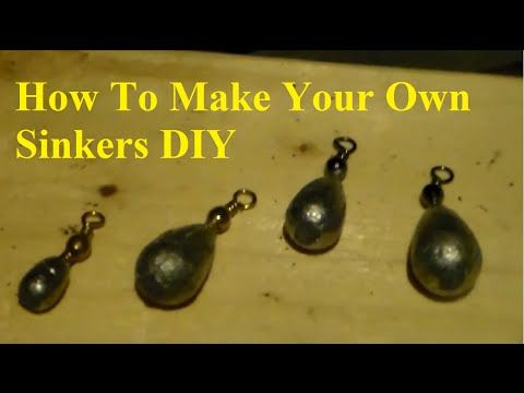 Making lead fishing weights in wooden moulds - YouTube ...