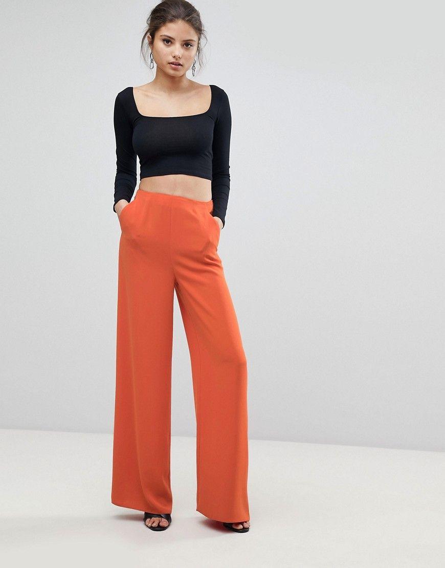 100% high quality best shoes arrives Missguided Wide Leg Pants - Orange | Clothes, Wide leg pants, Wide ...