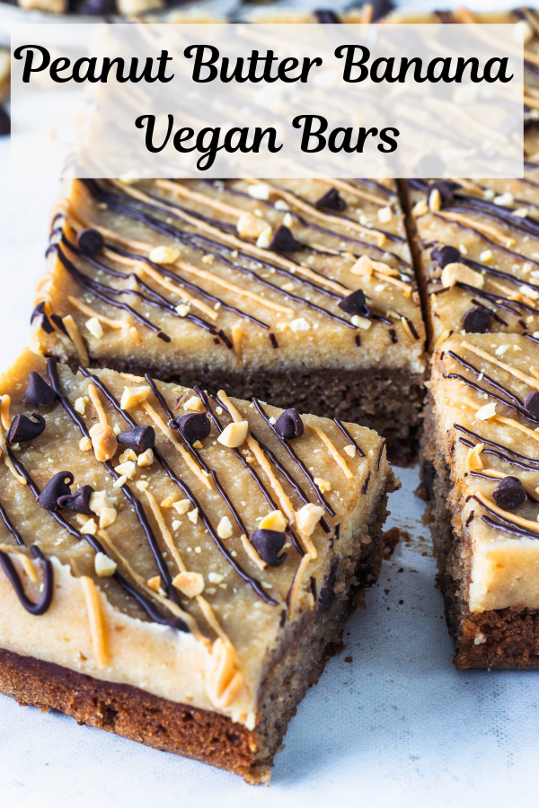 Peanut Butter Banana Vegan Cake Bars Recipe Peanut Butter Banana Vegan Dessert Recipes Vegan Sweets