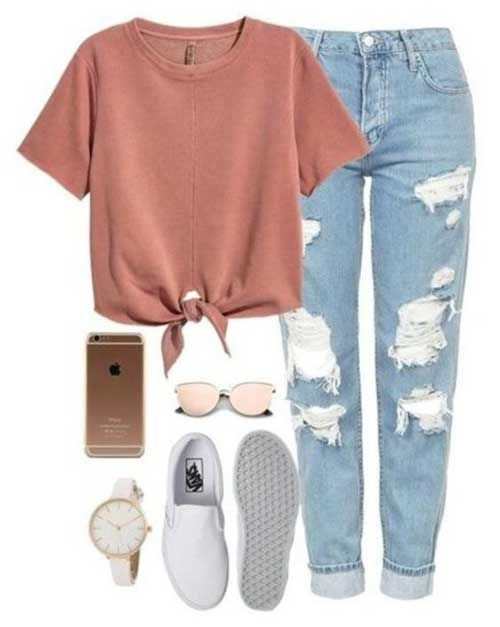 Ripped Jeans Outfit Ideas For School : ripped, jeans, outfit, ideas, school, Ripped, Jeans, Outfit, Ideas, Tween, Outfits,, Casual, Outfits