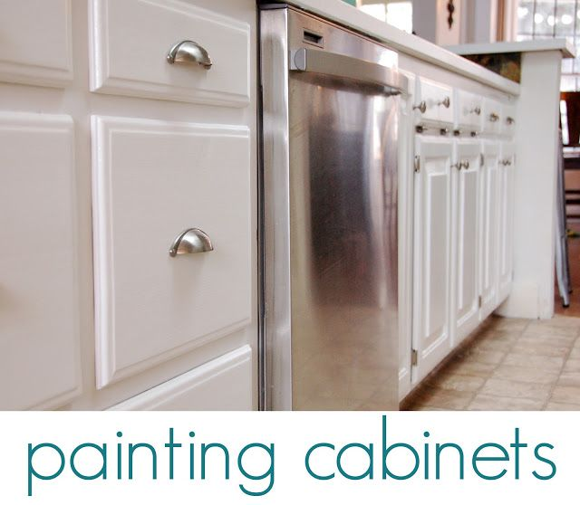 Painting Your Own Kitchen Cabinets Is A Big, Long Job. My