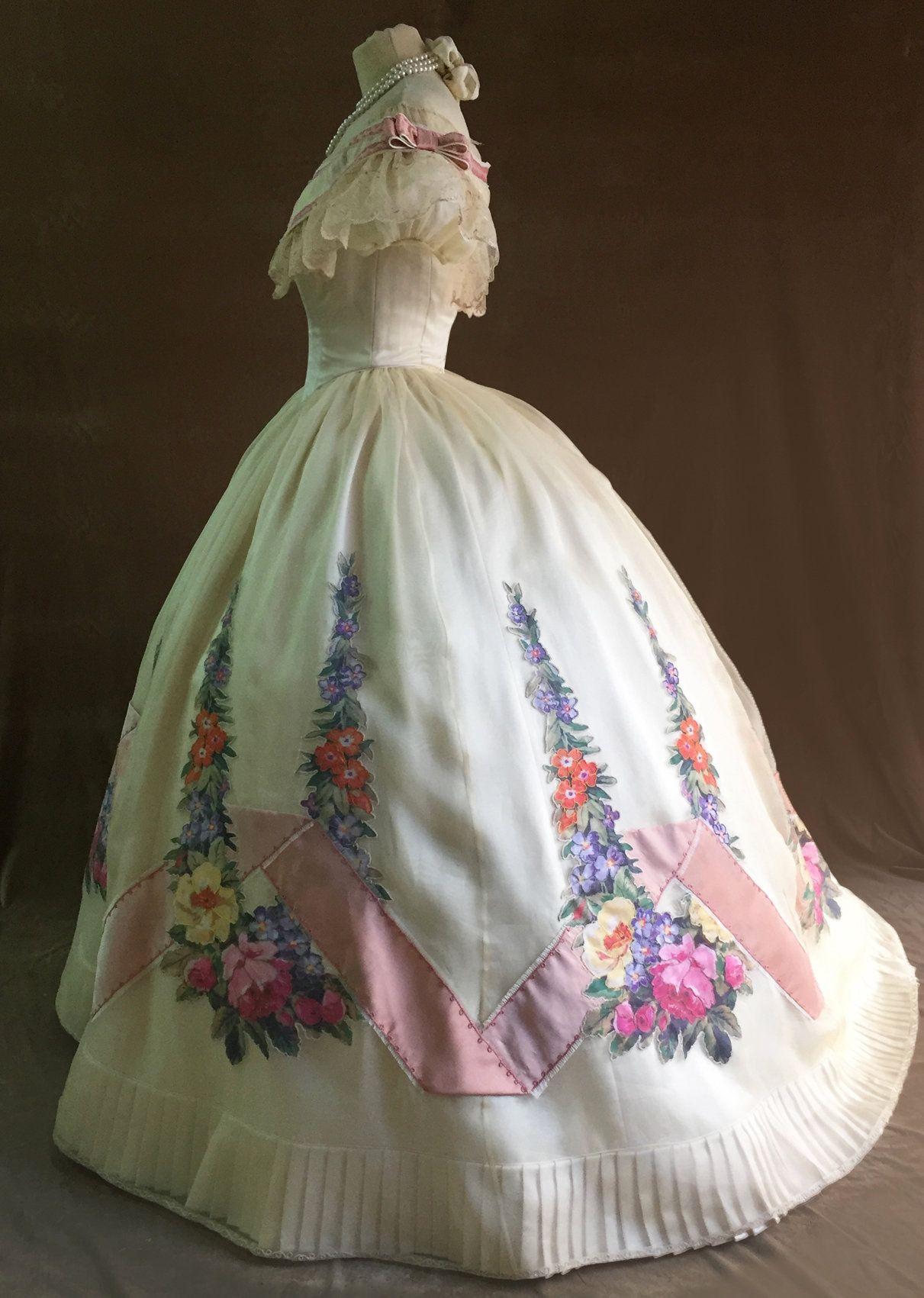 1860s Ballgown Victorian Dress 1860s Ballgown Victorian Dress Old Fashion Dresses [ 1701 x 1211 Pixel ]