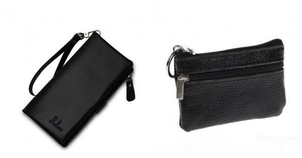 BangGood - Eachine1 ZUOERDANNI Men Genuine Leather Multifunction Zipper Long Big Capacity Business Wallet - AdoreWe.com