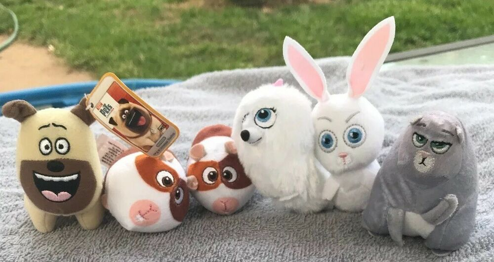 The Secret Life Of Pets Lot 6 Plush Mcdonalds Snowball Gidget Mel