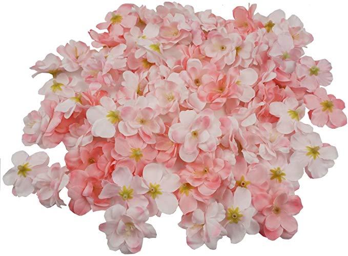 Amazon Com Colorfulife Cherry Blossom Flower Heads 100pcs Artificial Silk Sakura Flower Head Peta In 2020 Cherry Blossom Flowers Cherry Blossom Petals Blossom Flower