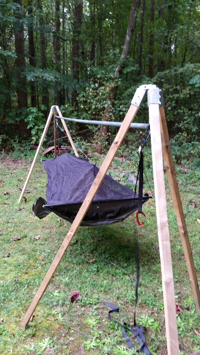 Medium image of tato gear hammock stand kit  no time skill or tools to build your own