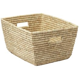 The Container Store Rectangular Date Leaf Basket Wicker