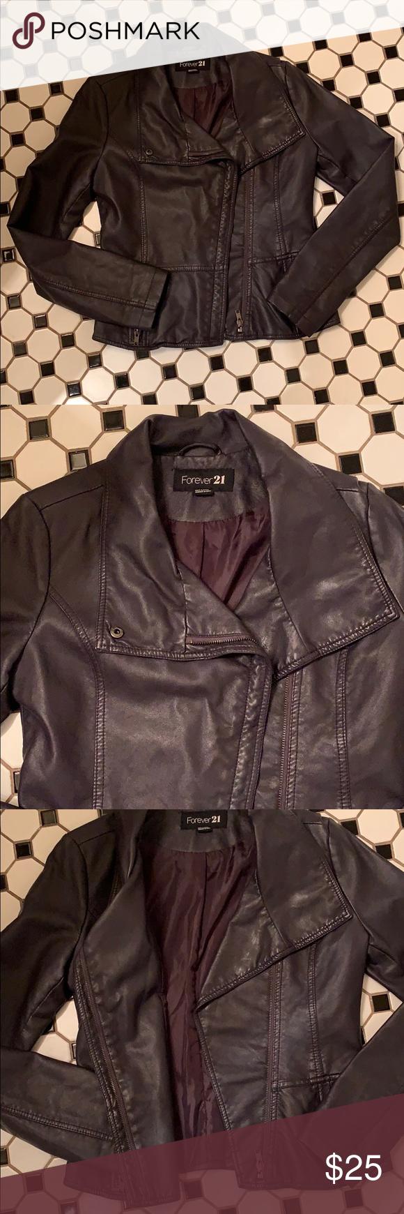 Forever 21 Purple Faux Leather Jacket Coat Purple Faux Leather Jacket Leather Jacket Faux Leather Jackets [ 1740 x 580 Pixel ]