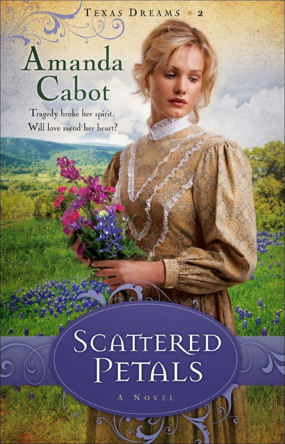 Scattered Petals  by Amanda Cabot  http://www.faithfulreads.com/2015/01/tuesdays-christian-kindle-books-early_20.html