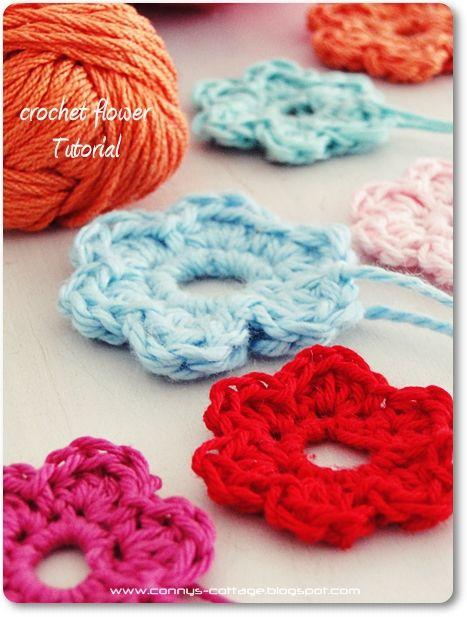 Connys Cottage: Tutorial crochet flower | Crochet|LittleThings ...