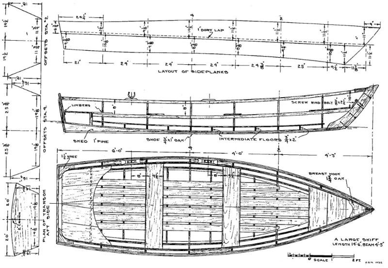 Free skiff boat plans nautica pinterest boat plans for Building planning and drawing free pdf download