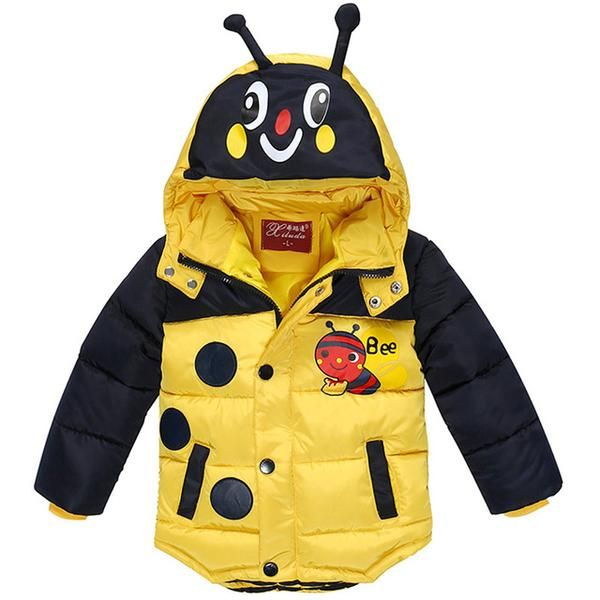 21718aefd LZH Baby Boys Jacket 2017 Winter Jacket For Boys Bees Hooded Down ...