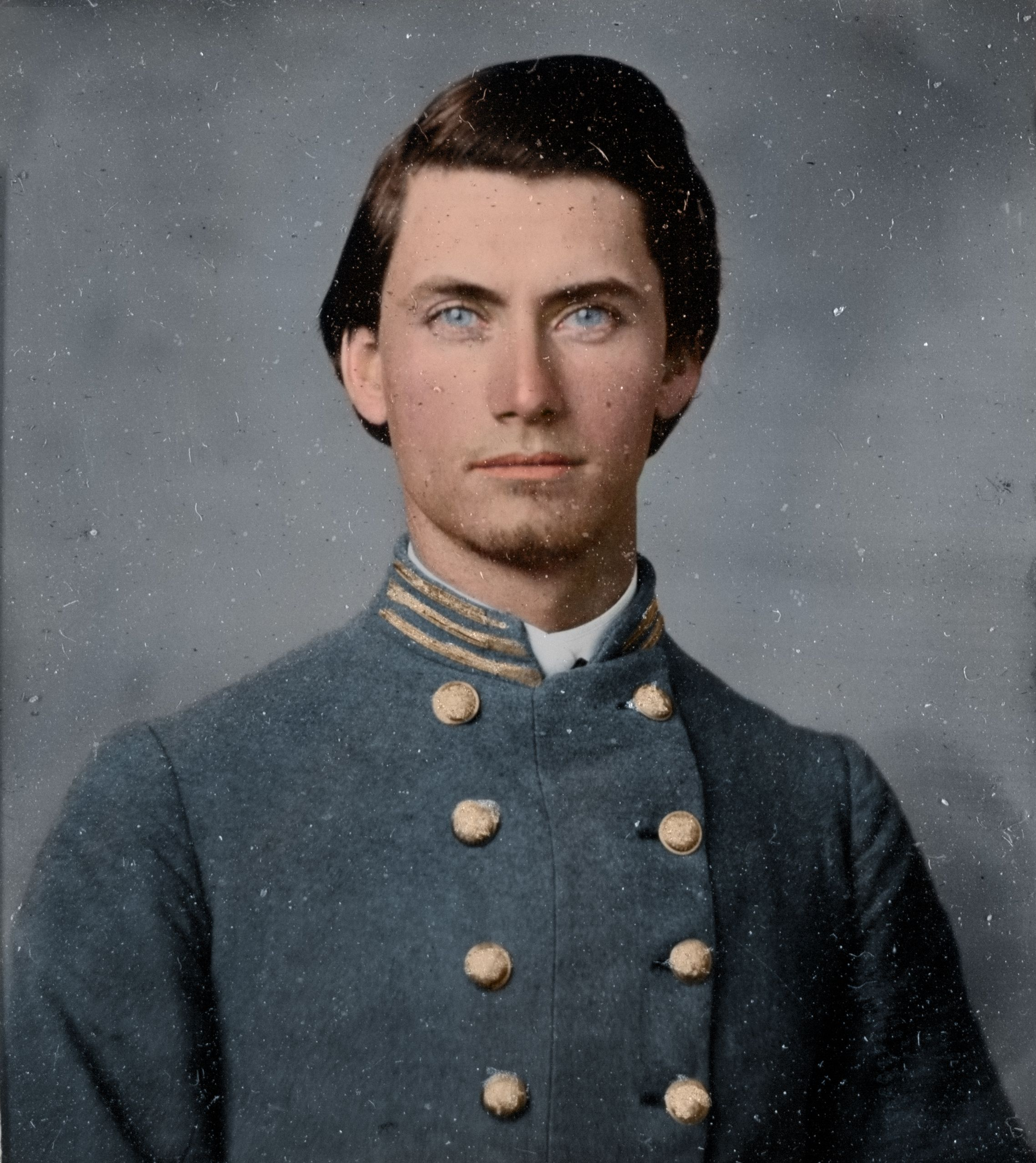 Confederate captain with blue eyes a girl could get lost