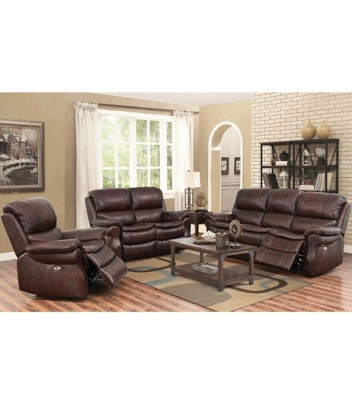 Hobson Leather Power Reclining Set  Furniture  Pinterest Unique Living Rooms Sets 2018