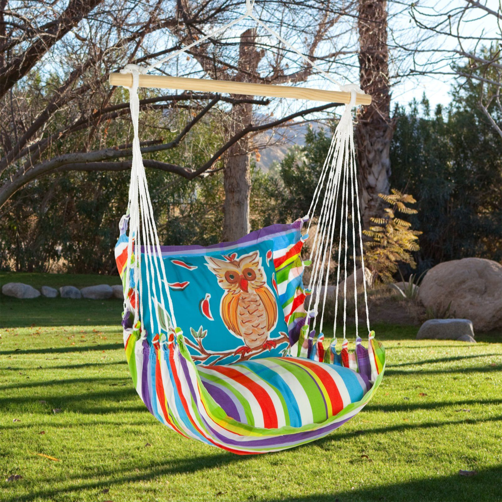 Magnolia Casual Owl Hammock Chair Pillow Set Necessary For