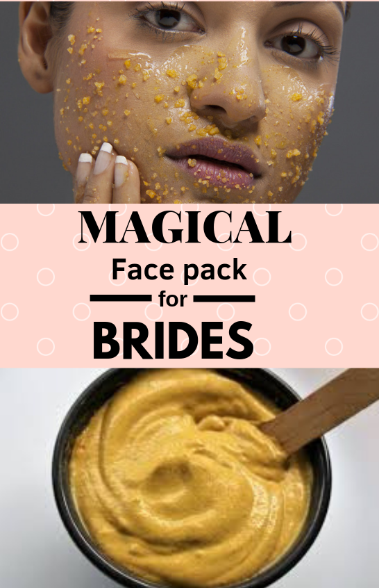 Bridal face mask with gram flour
