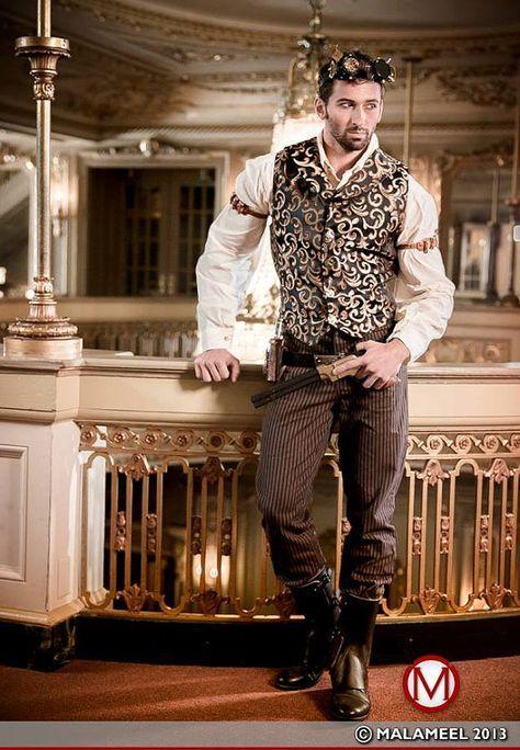 Victorian Pirate Conductor Dustpunk Ren Faire Renaissance Festival Western Steampunk Airship Pirate Black Button Down Men/'s Shirt