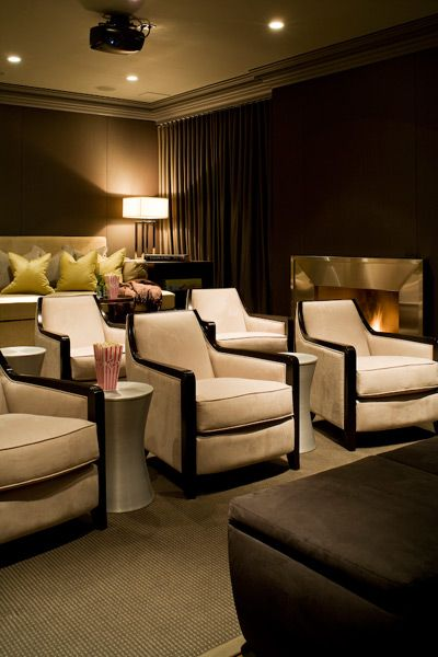 gorgeous home theatre love the raised platform for the sofa and the individual chairs which. Black Bedroom Furniture Sets. Home Design Ideas